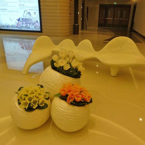 河南玻璃钢组合景观花盆