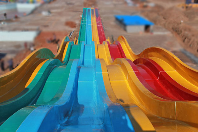 玻璃钢大型组合滑梯