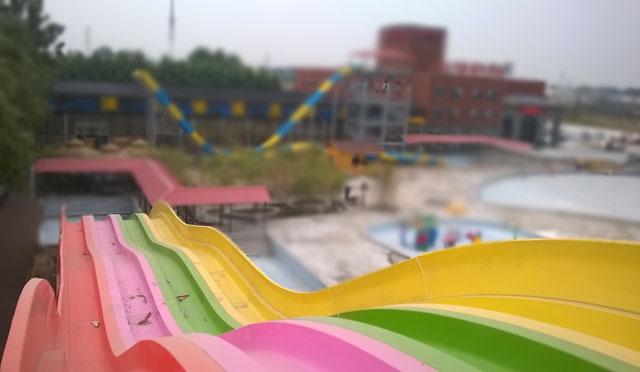 波浪形滑梯玻璃钢产品