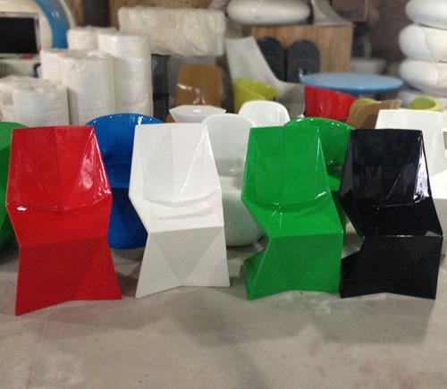 广州玻璃钢菱形座椅