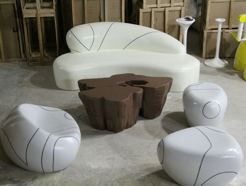 海南玻璃钢沙发组合家具