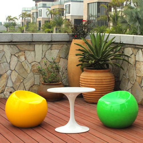 广东玻璃钢苹果凳组合家具
