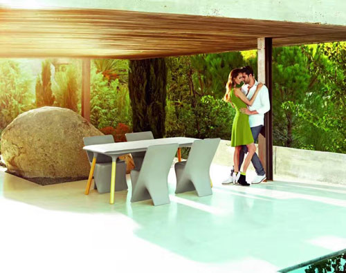 天津玻璃钢时尚组合家具