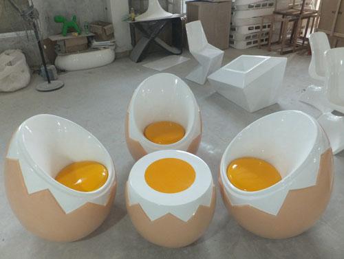 广州玻璃钢鸡蛋组合椅