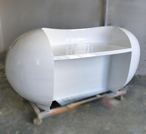 陕西玻璃钢创意办公前台定制