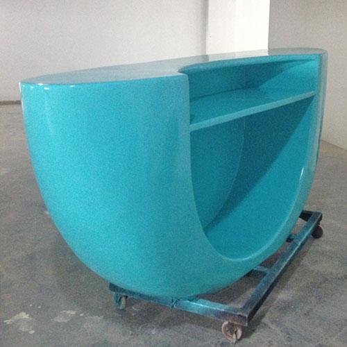 广州创意玻璃钢办公前台