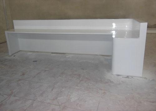 四川玻璃钢前台接待家具定制