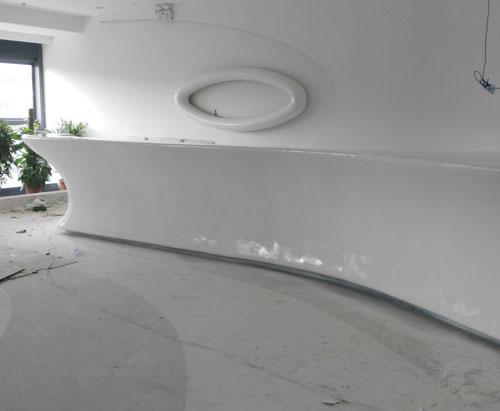 云南玻璃钢酒店接待台