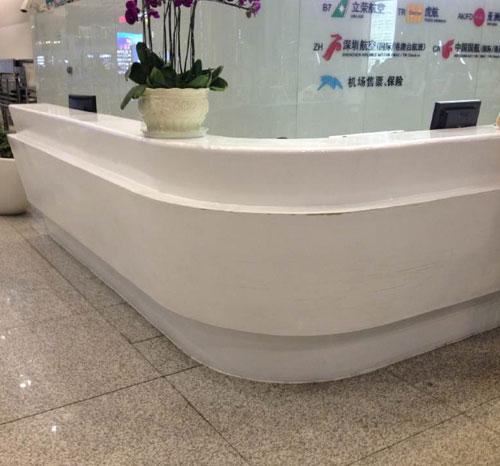 重庆玻璃钢酒店前台家具