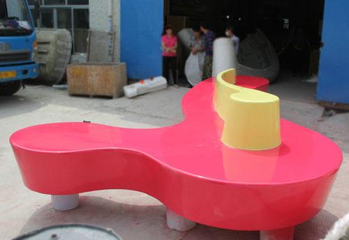 河北玻璃钢商场连体休闲椅