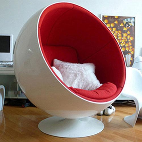 重庆玻璃钢创意太空椅旋转球休闲椅