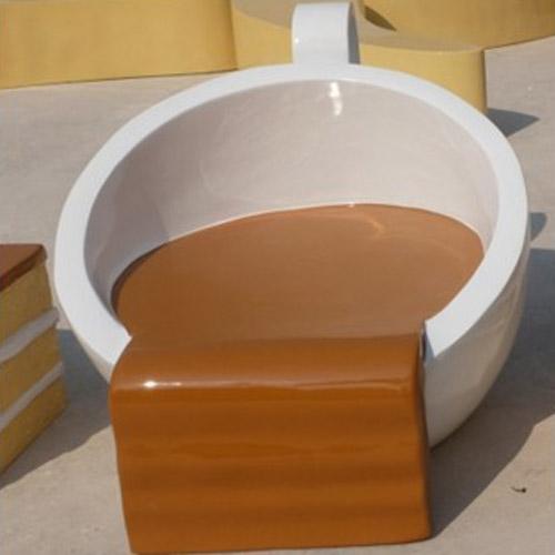 河南玻璃钢咖啡杯造型