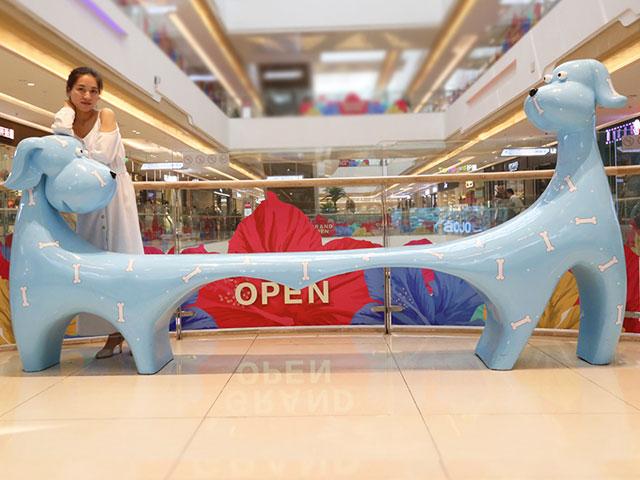 内蒙古商场玻璃钢卡通座椅