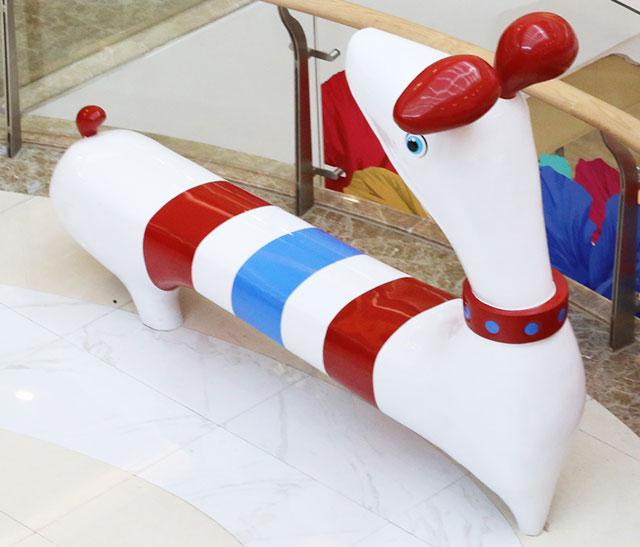 宁夏玻璃钢创意动物坐凳