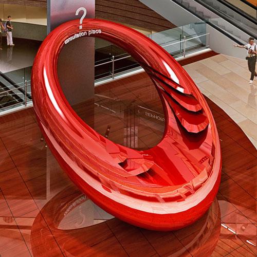 辽宁玻璃钢创意服务台