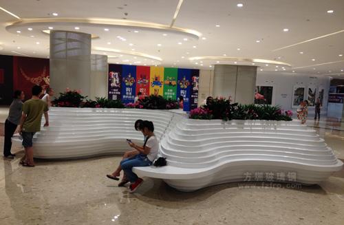 商场大型玻璃钢创意休闲椅带花盆