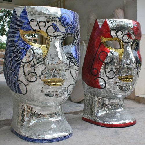 玻璃钢马赛克装饰摆件视觉感丰富高档新选择