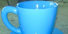 方圳茶杯型大口径玻璃钢花盆助力房产销售