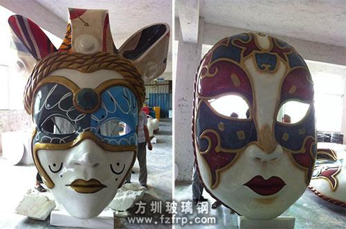 玻璃钢人物脸谱雕塑