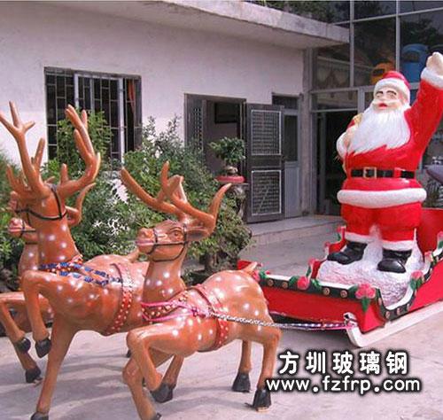 驯鹿拉着圣诞老人