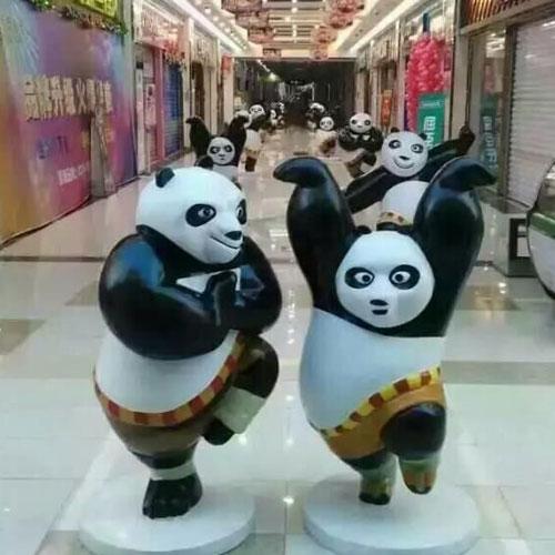 广州玻璃钢功夫熊猫雕塑