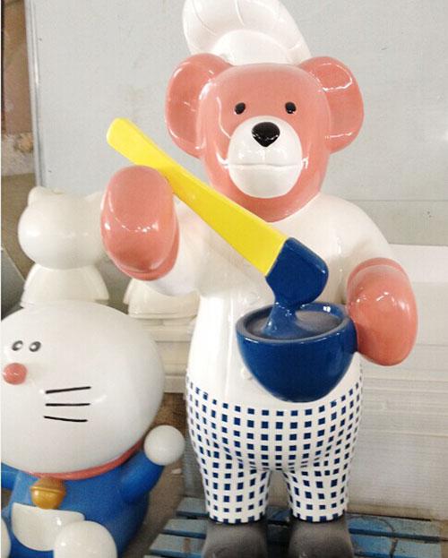 贵州玻璃钢卡通熊雕塑小品