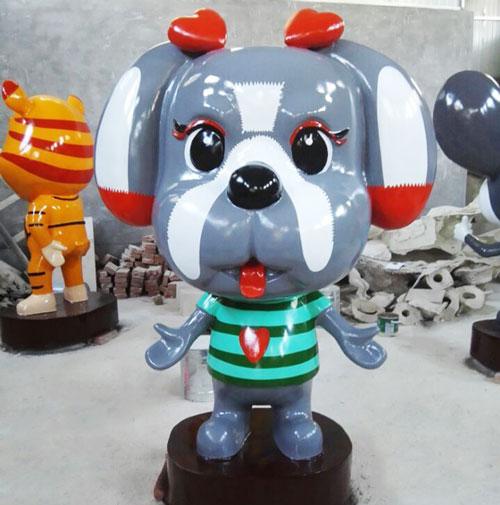 重庆玻璃钢卡通小狗雕塑