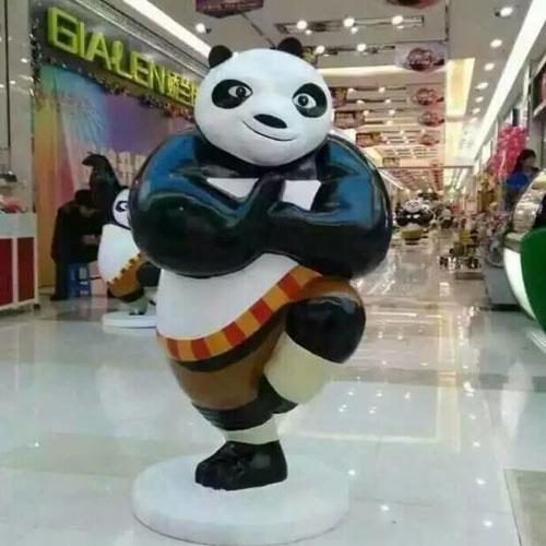 广州商场美陈熊猫雕塑