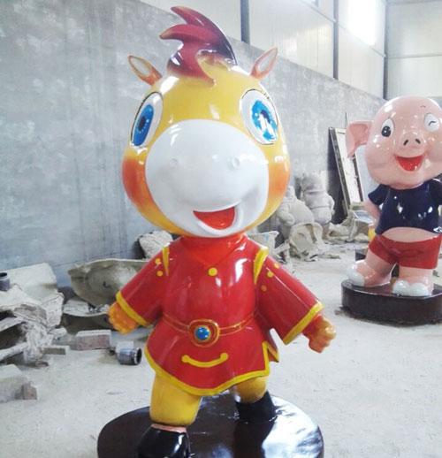 陕西玻璃钢卡通动物雕塑