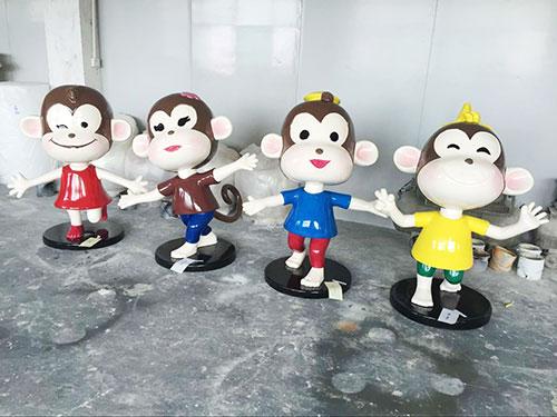 重庆玻璃钢卡通猴雕塑