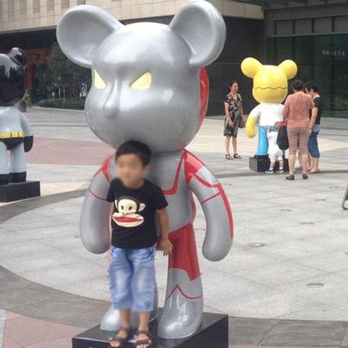 黄骅玻璃钢动漫影视模型雕塑广场展览图