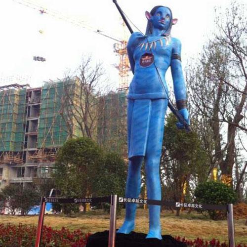 海南广场玻璃钢影视雕塑