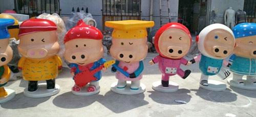 广州玻璃钢卡通猪创意雕塑
