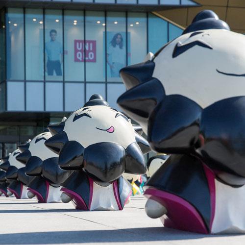 广州商场玻璃钢雕塑展览