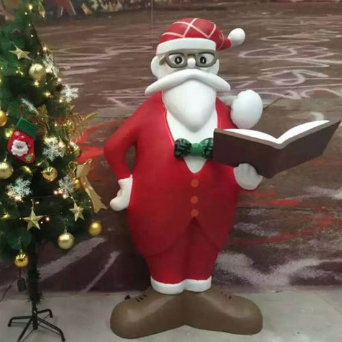 贵州玻璃钢圣诞老人雕塑