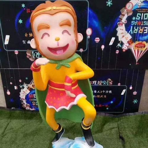 云南景区玻璃钢卡通猴雕塑
