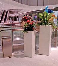 佛山中海环宇城玻璃钢花缸电梯口摆放图