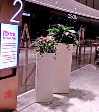 佛山中海环宇城玻璃钢花缸楼层指示牌摆放图