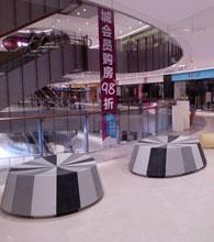 佛山中海环宇城玻璃钢座椅摆放图