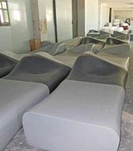 佛山中海环宇城玻璃钢座椅工厂成品图