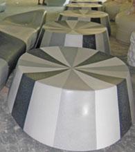 佛山中海环宇城玻璃钢座椅工厂生产图